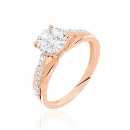 Bague Kate Or Rose Diamant - Bagues solitaires Femme | Histoire d'Or