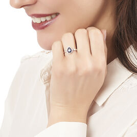Bague Or Blanc Saphir Et Diamant - Bagues avec pierre Femme   Histoire d'Or