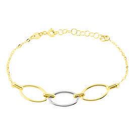 Bracelet Lucia Or Bicolore - Bijoux Femme   Histoire d'Or
