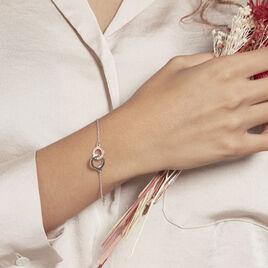 Bracelet Argent Bicolore Dot - Bracelets fantaisie Femme   Histoire d'Or