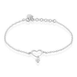 Bracelet Caprice Argent Blanc Strass - Bracelets fantaisie Femme   Histoire d'Or