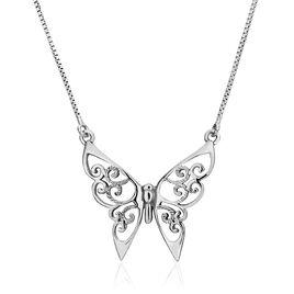 Collier Volantia Argent Blanc - Colliers Papillon Femme | Histoire d'Or