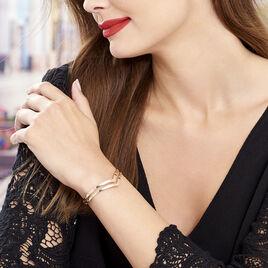 Bracelet Jonc Wilna Acier Rose - Bracelets fantaisie Femme   Histoire d'Or