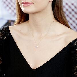 Collier Ecrin Or Jaune Topaze Oxydes De Zirconium - Colliers Coeur Femme | Histoire d'Or
