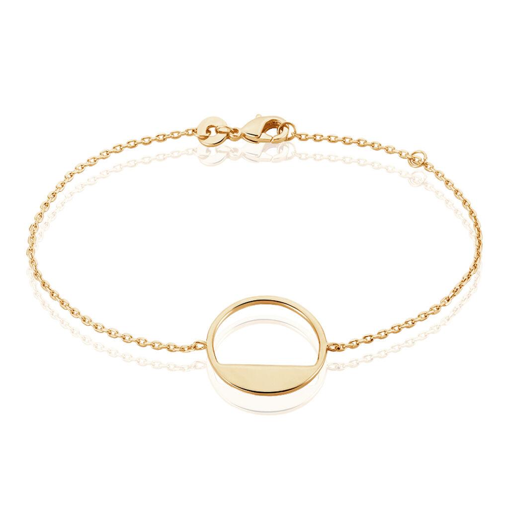 Bracelet Roni Plaque Or Jaune - Bracelets fantaisie Femme   Histoire d'Or