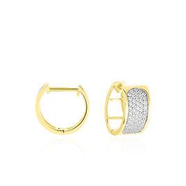 Creoles Or Jaune Marita Oxydes De Zirconium - Boucles d'oreilles créoles Femme | Histoire d'Or