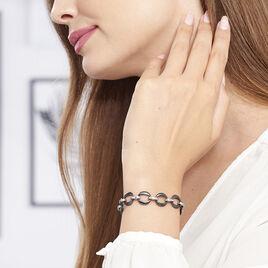 Bracelet Yato Acier Blanc Céramique - Bracelets fantaisie Femme   Histoire d'Or