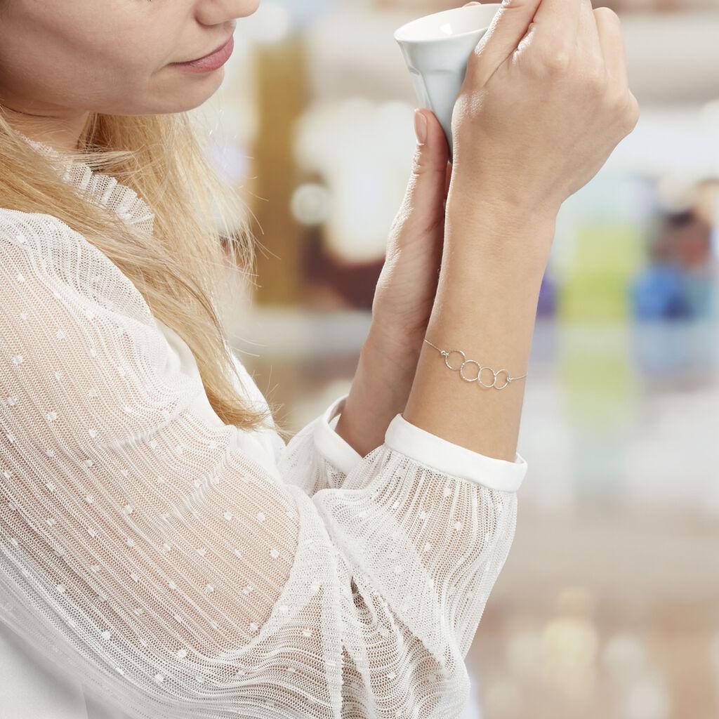 Bracelet Bulle Argent Blanc - Bracelets fantaisie Femme   Histoire d'Or