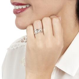 Bague Camomille Or Blanc Diamant - Bagues avec pierre Femme   Histoire d'Or
