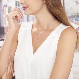 Collier Arianna Argent Blanc Oxyde De Zirconium - Colliers Coeur Femme   Histoire d'Or