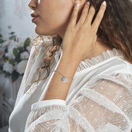 Bracelet Argent Rhodie Bapper Oxydes De Zirconium - Bracelets fantaisie Femme   Histoire d'Or
