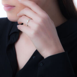 Bague Solitaire Laetitia Or Rose Diamant - Bagues avec pierre Femme | Histoire d'Or