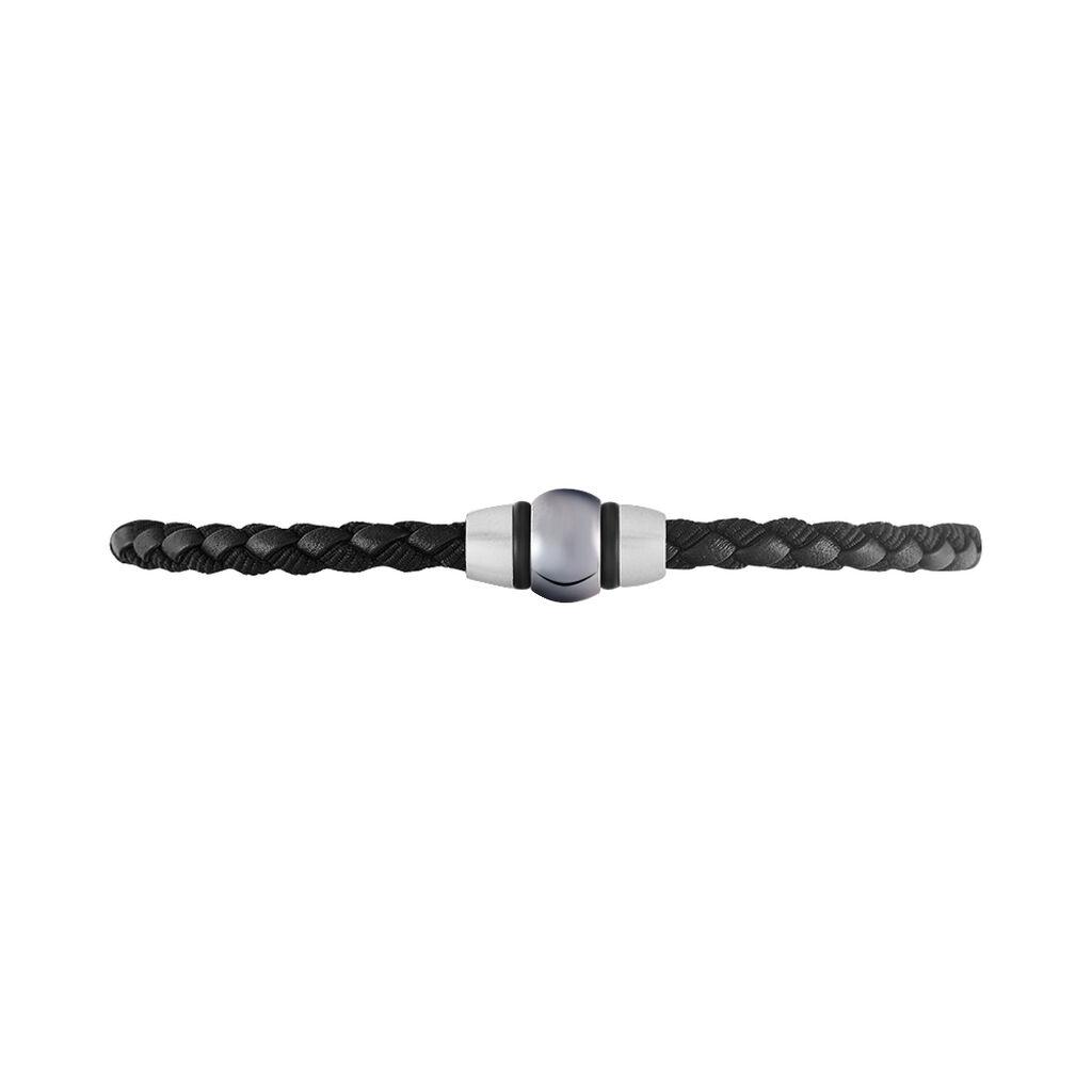 Bracelet Acier Blanc - Bracelets cordon Homme   Histoire d'Or