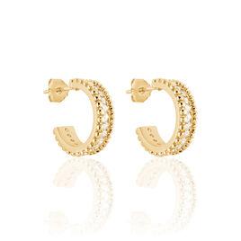 Boucles D'oreilles Pendantes Marie-baptistine Plaque Or Oxyde - Boucles d'oreilles créoles Femme   Histoire d'Or