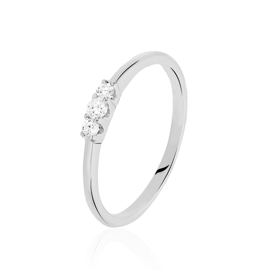 Bague Sabine Or Blanc Diamant