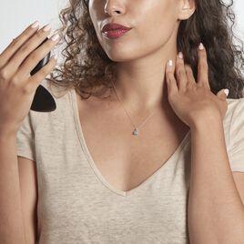 Collier Or Blanc Goutte Topaze - Bijoux Femme | Histoire d'Or