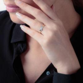Bague Anna Or Bicolore Et Diamants - Bagues avec pierre Femme | Histoire d'Or