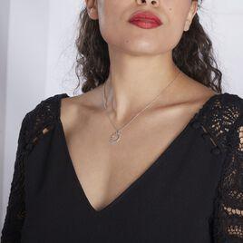 Collier Astri Argent Blanc Oxyde De Zirconium - Colliers fantaisie Femme   Histoire d'Or