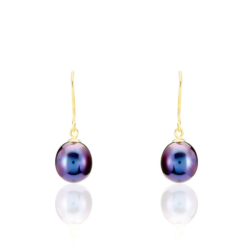 Boucles D'oreilles Pendantes Severiane Or Jaune Perle De Culture - Boucles d'oreilles pendantes Femme   Histoire d'Or