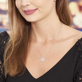 Collier Kahena Argent Blanc Oxyde De Zirconium - Colliers fantaisie Femme   Histoire d'Or