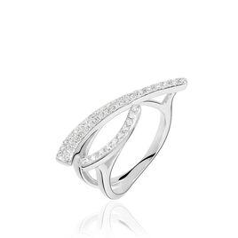 Bague Djazira Or Blanc Diamant - Bagues avec pierre Femme   Histoire d'Or