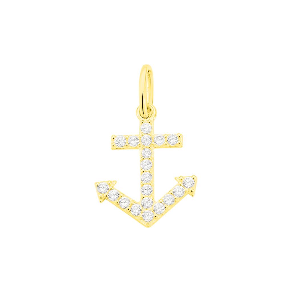 Pendentif Marisa Or Jaune Oxyde De Zirconium - Bijoux Ancre Femme   Histoire d'Or