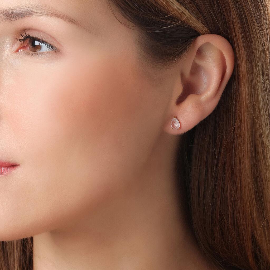 Boucles D'oreilles Pendantes Capucine Or Rose Quartz - Boucles d'oreilles pendantes Femme   Histoire d'Or