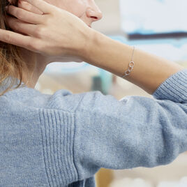 Bracelet Flat Argent Blanc - Bracelets fantaisie Femme | Histoire d'Or