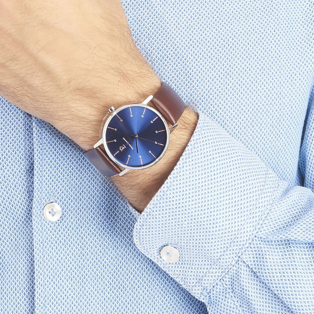 Montre Pierre Lannier Collection Elegance Style Bleu