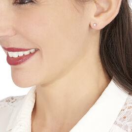 Boucles D'oreilles Puces Victoria Or Blanc Diamant - Clous d'oreilles Femme | Histoire d'Or