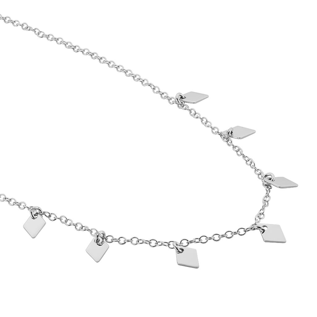 Collier Oualida Argent Blanc - Colliers fantaisie Femme   Histoire d'Or