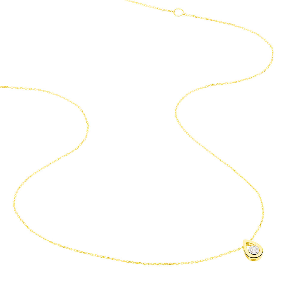 Collier Fidelia Or Jaune Diamant - Bijoux Femme | Histoire d'Or