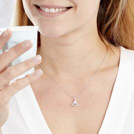 Collier Sarita Argent Blanc Oxyde De Zirconium - Colliers fantaisie Femme   Histoire d'Or
