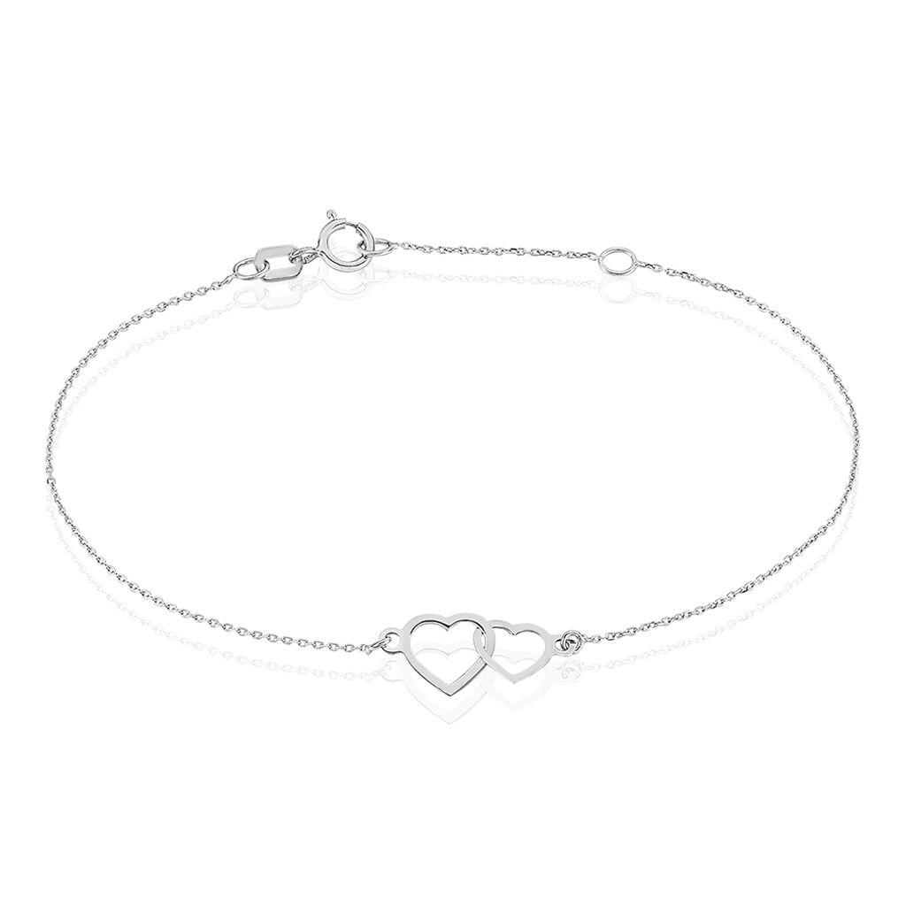 Bracelet Eleno Or Blanc - Bracelets Coeur Femme | Histoire d'Or