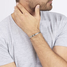 Bracelet Jacques Acier Blanc - Bracelets fantaisie Homme   Histoire d'Or