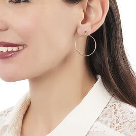 Créoles Tia Geometrique Or Jaune - Boucles d'oreilles créoles Femme   Histoire d'Or