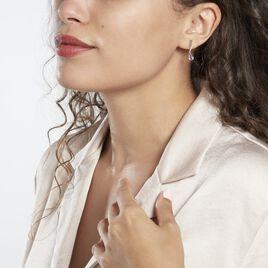 Boucles D'oreilles Pendantes Assaf Or Blanc Amethyste Et Oxyde - Boucles d'oreilles pendantes Femme   Histoire d'Or