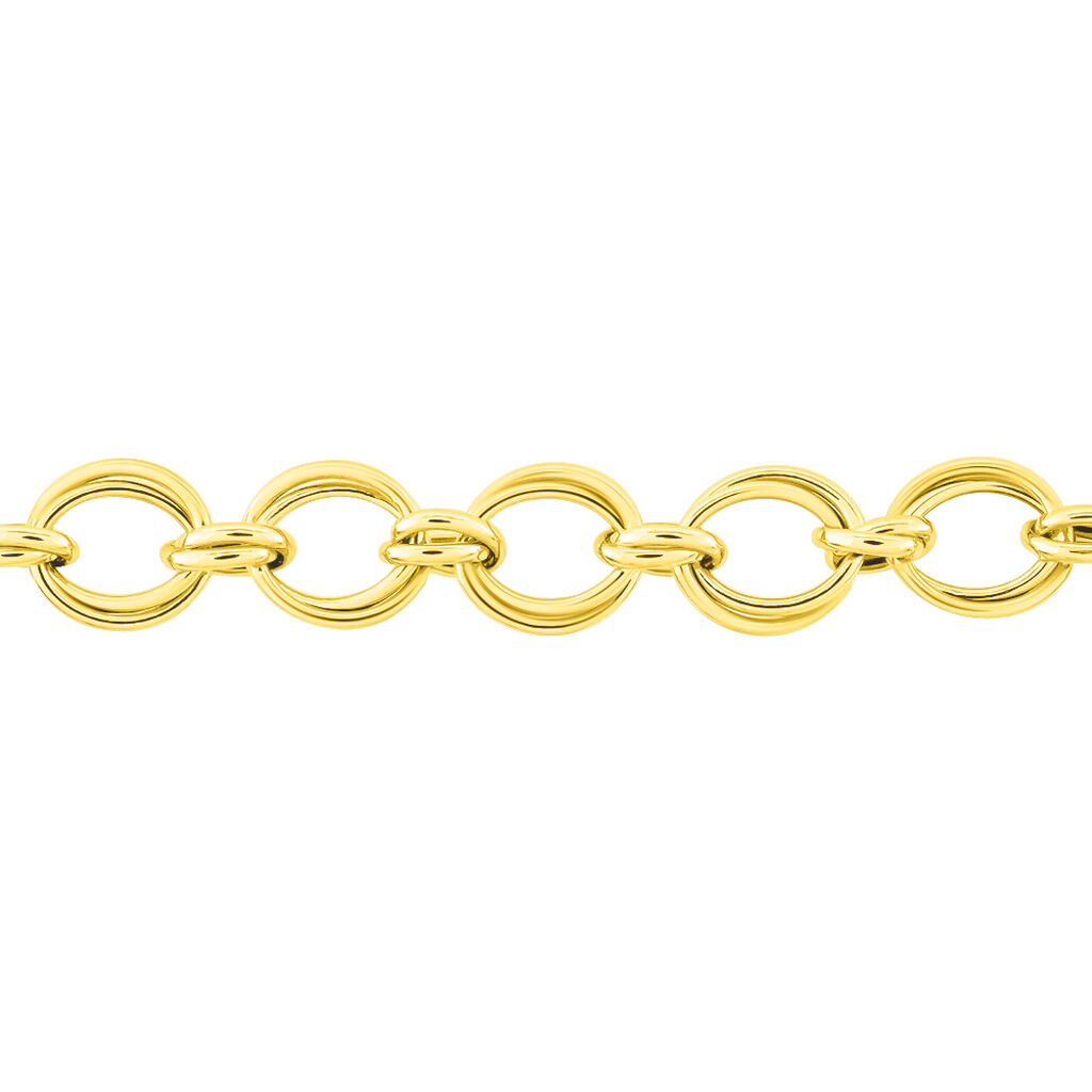 Bracelet Aaron Maille Fantaisie Or Jaune - Bijoux Femme | Histoire d'Or