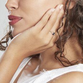 Bague Or Blanc Marie Saphir Diamants - Bagues solitaires Femme | Histoire d'Or