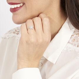 Bague Soleil D'hiver Or Blanc Diamant Divers - Bagues avec pierre Femme | Histoire d'Or