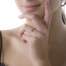 Bague Manon Or Rose Saphir Et Diamant - Bagues avec pierre Femme | Histoire d'Or