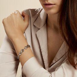 Bracelet Thuya Acier Blanc - Bracelets Infini Femme   Histoire d'Or