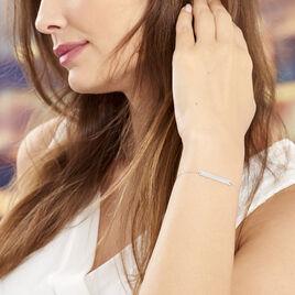 Bracelet Barrette Gravable Or Blanc - Gourmettes Femme | Histoire d'Or