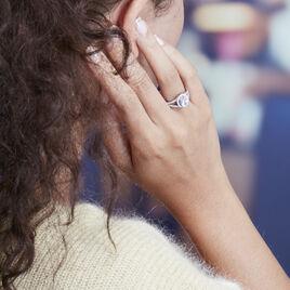 Bague Melyssa Argent Blanc Oxyde De Zirconium - Bagues avec pierre Femme   Histoire d'Or
