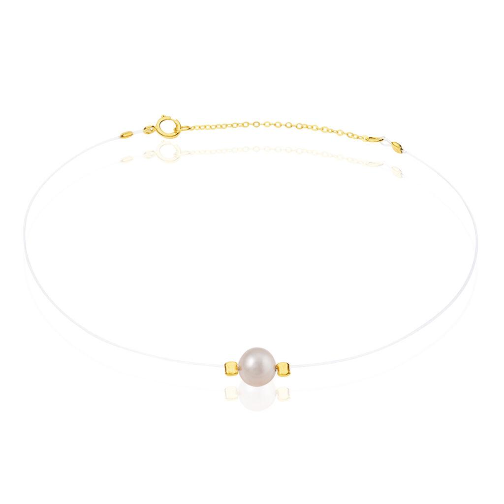 Bracelet Esmeralde Or Jaune Perle De Culture - Bijoux Femme   Histoire d'Or