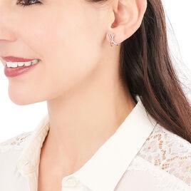 Créoles Bleona Croisees Or Bicolore - Boucles d'oreilles créoles Femme | Histoire d'Or