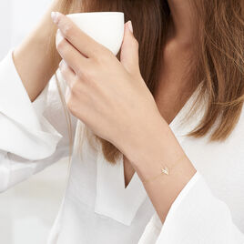 Bracelet Dao Or Jaune Oxyde De Zirconium - Bijoux Femme | Histoire d'Or