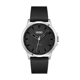 Montre Hugo First Noir - Montres Homme | Histoire d'Or