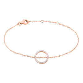 Bracelet Alysone Argent Rose Oxyde De Zirconium - Bracelets fantaisie Femme | Histoire d'Or