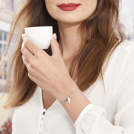 Bracelet Alli Argent Blanc - Bracelets Plume Femme   Histoire d'Or
